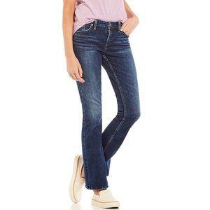 Silver Jeans Toni Low Rise Boot Cut Denim Blue 25
